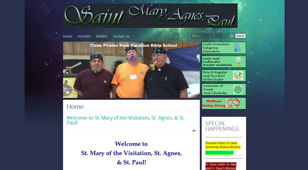 Saint Mary's, Saint Agnes, & Saint Paul Parishes